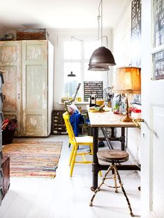 pretty, eclectic office