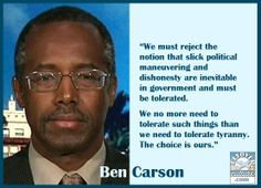 #BenCarson. I really like him.