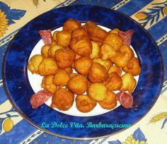 #Frittelle salate di #ceci, gonfie e dorate, una tira l'altra!!