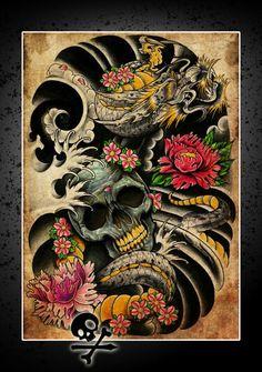 60 Awesome Tattoo Designs Men Sleeve Dragon 112 Half Sleeve Tattoos for Men and Women Dragon Tattoo Bazza Dragon Sleeve Tattoos, Best Sleeve Tattoos, Cover Up Tattoos, Skull Tattoos, Japanese Tattoo Art, Japanese Sleeve Tattoos, Japanese Art, Japanese Style, Tatoo Art