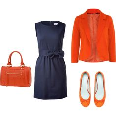 Outfits that matches Amazing Jake's color scheme - Blue/Orange combination