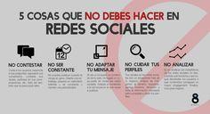 Infografía: 5 cosas que no debes hacer en redes sociales