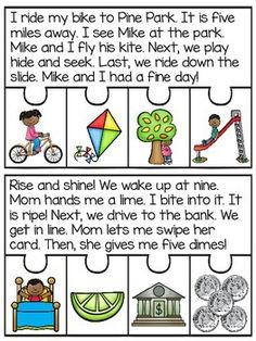 CVCe Fluency and Sequencing Puzzles that make reading fun! Students read the story and put the events of the story in order to practice sequencing to complete each puzzle!I made 2 puzzles for each long vowel sound (a_e, i_e, o_e, u_e) so there are 8 puzzles total!