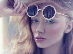 model Claudia Devlin for institute magazine