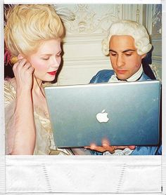 Images from the set of Marie Antoinette (2006)