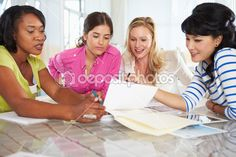 Group Of Women Meeting In Creative Office — Stock Image #25048533