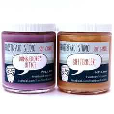 Dumbledore's Office & Butterbeer -- Book Lovers' Candles