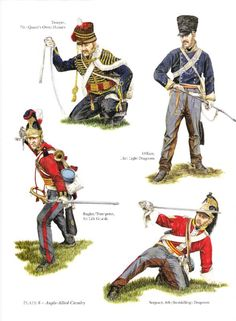 British Cavalry at Waterloo. 7th Hussars ... 24th Light Dragoons ... 6th Dragoons ... 1st Life Guards