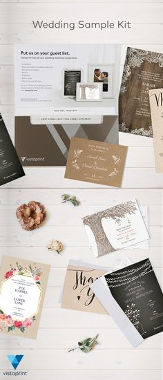 Prepare for the perfect wedding day with our free sample kit. Includes all the essential wedding stationery for your big day - request yours today!