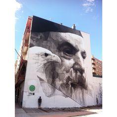 by iNO (Greece) - New mural - Zaragoza, Spain - 14.09.2014