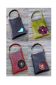 Leather iPhone or Gadget Case Wristlet - Design Your Own. $34.95, via Etsy.
