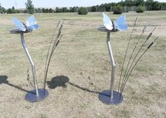 """""""Butterfly Bird Baths"""" (Polished and sprayed with a clear coat)"""