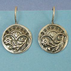 Sterling Silver Earrings Floral Fan Victorian Button Earrings Free Shipping Etsy. $38.00, via Etsy.