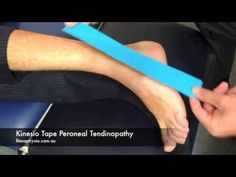 ▶ How to Kinesio Tape for Peroneal Tendonitis | Sports Strapping Tape - YouTube