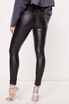Penelope Black Wax Coated Skinny Jeans. Black Coated JeansLeather Trousers Girls ... 2027378d9592