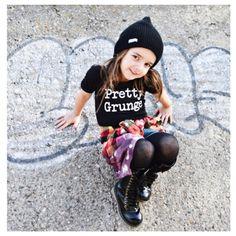 "Little Wonderland Clothing on Instagram: ""Grunge is not dead! It just got pretty! Layla with her little Stylin 90s self!! <get it girl>  With our Pretty Grunge Leo + Rockin her Leo with her distressed flannel @rebelrooster + tights + boots <be still my 90s heart> Rock on #babe #fashion #fashionista #kidsfashion #girl #streetwear #leo #hipkidfashion #trendy #style #igkiddies #stylish #stylishkids #rad #boss #love #ootd #prettygrunge #love #fleece #chic #epic #fashionicon #grunge"