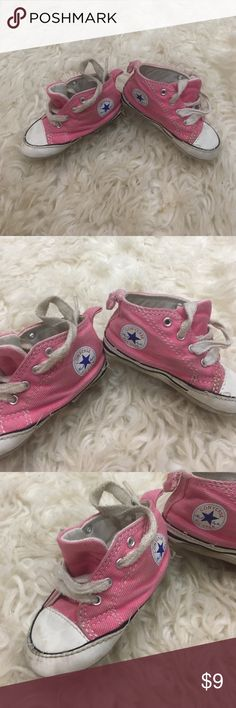 Soft baby converse Pink soft shoes, tie, can be washed easily, show wear Converse Shoes Sneakers