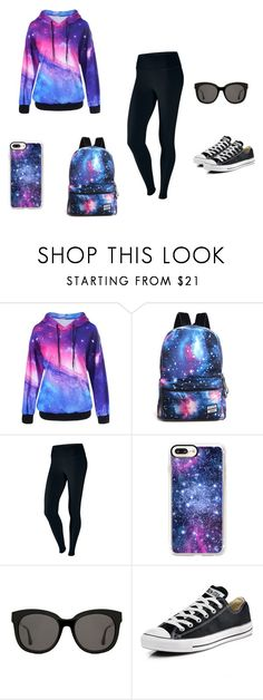 """""""Marta's universe"""" by ustine on Polyvore featuring moda, NIKE, Casetify, Gentle Monster, Converse i plus size clothing"""