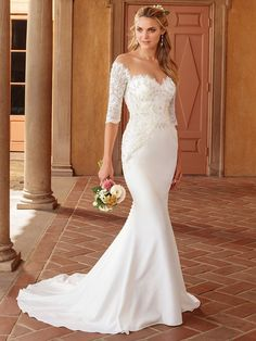 da092b9ad97c Casablanca Bridal Style 2317 Imogen wedding Dress When it comes to Imogen,  a stretch georgette