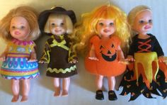 Mattel Kelly Doll Lot Easter Egg Pumpkin Costume Clothes Barbie's Sister Friends
