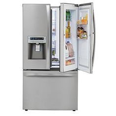 Kenmore - love the split outer door for easy access for grandchildren and love the freezer on the bottom.
