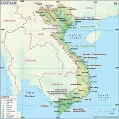 map of vietnam with cities - Google Search | MAPS | Pinterest ...