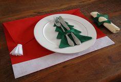 Kit de Feltro para Jogo Americano - Gorro Papai Noel - 6 Unidades ab707db0841