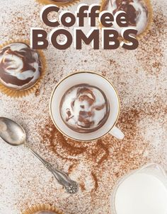 This contains: A coffee bomb, or a hard chocolate shell filled with instant coffee, sitting in a coffee mug. Easy Drink Recipes, Easy Homemade Recipes, Coffee Recipes, Yummy Drinks, Easy Dinner Recipes, Best Comfort Food, Comfort Foods, Easy Coffee, Hot Coffee