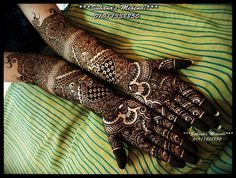 Lovely mehendi design. But, I wouldn't want it all the way up. Maybe half of this