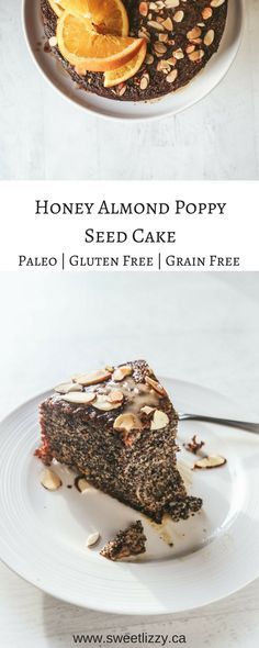 Gluten free, paleo, dairy free and delicious! The base of this recipe is almond flour and poppy seeds and is only sweetened with honey! #glutenfree #paleo