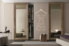 Life is too short to wear boring Clothes Wall Art Bedroom Decal Mural Sticker