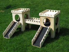 Bunny Castle Complete Set by BunsBedsAndBeyond on Etsy Bunny Cages, Rabbit Cages, House Rabbit, Pet Rabbit, Bunny Beds, Bunny Room, Guinea Pig Toys, Guinea Pigs, Rabbit Habitat