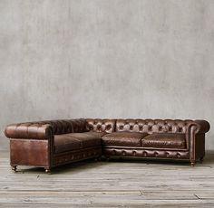 Petite Kensington Leather Corner Sectional