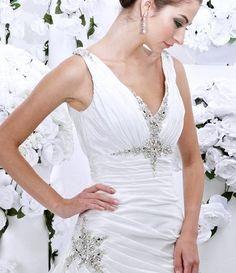 Unique V Neck Ball Gown Wedding Dress 2013 Designer