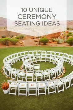 Check out these unique ceremony seating ideas, works perfect for smaller weddings.
