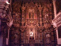 Main Altar of the Spanish Mission Church of San Xavier del Bac.