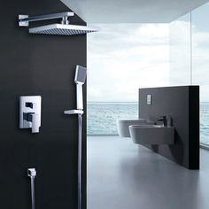 With the ultra-contemporary styling, Dree Faucet Collection features 90 Degree that brings a clean, minimalist aesthetic appeal to your home. The straight lines and right angles make this concealed shower system ideal for many contemporary bathroom designs. It is coated with polished chrome for a mirror like finish to show hospitality.