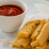 Cheesey polenta chips