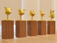 A gold-plated 'Zodiac Heads' by Chinese artist Ai WeiWei, valued at GBP 2m-3m (2,691,400 to 4,037,100 euros), will be auctioned in London on 12 February 2015