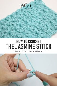 Learn to crochet the Jasmine stitch with this FREE step by step video tutorial. You can find it in both leaf and right handed versions. Find the FREE written pattern and more at bellacococrochet.com