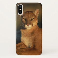 Mountain Lion Portrait IPhone X Case