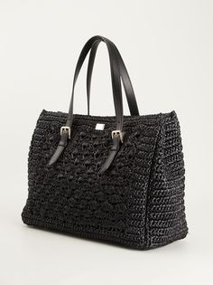 DOLCE GABBANA - crochet knit tote