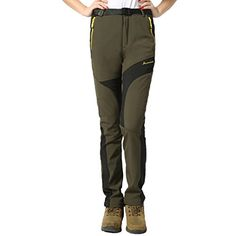 86f35ae223 Introducing Modern Fantasy Womens Waterproof Elastic Outdoor Fleece Warm  Sport Pants L Army Green. Great