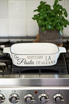 New Arrivals | Rivièra Maison Serviamo La Pasta Italiana Dish