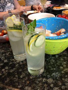 Cucumber Lemonade with Basil - very refreshing!