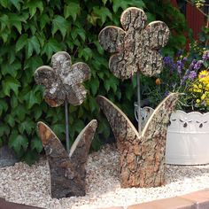 Blume-rustikal, Größe 2, Höhe 60 cm, Holzdeko | HOLZLIEBE-ISERLOHN | WOHNACCESSOIRES AUS HOLZ | MADE IN GERMANY