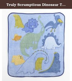 Truly Scrumptious Dinosaur Tracks Nursery Bedding Collection (Soft and Cozy Blanket). - Allow your baby's imagination to run free taking him on an exciting adventure with adorable dinosaurs and friendly prehistoric creatures. This collection features beautiful fabrics with watercolor-effect prints and textured dimensions appliques. - Large, soft and comforting, the perfect blanket for baby to snuggle. Makes a great gift! - Product Dimensions(in inches) 11.0 x 9.5 x 4.7.