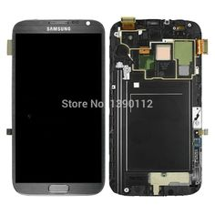 147.99$  Buy now - http://ali2bh.worldwells.pw/go.php?t=2048660335 - For Samsung Galaxy Note 2 N7105 i317 T889 LCD Screen Touch Digitizer + Frame Grey 147.99$