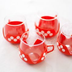Retro Polka Dot Cups from The Other Duckling. The perfect home accessory for jazzing up the breakfast table or for taking on a retro camping holiday in a vintage camper van.