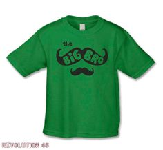 Big Brother Shirt -The Mustache Big Bro T-Shirt  (Black Ink ) Creative Pregnancy  Announcement on Etsy, $17.00